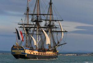 Un voilier de L'Armada à Rouen