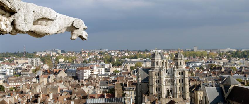 Vue sur Dijon et sa cathedrale 850 400