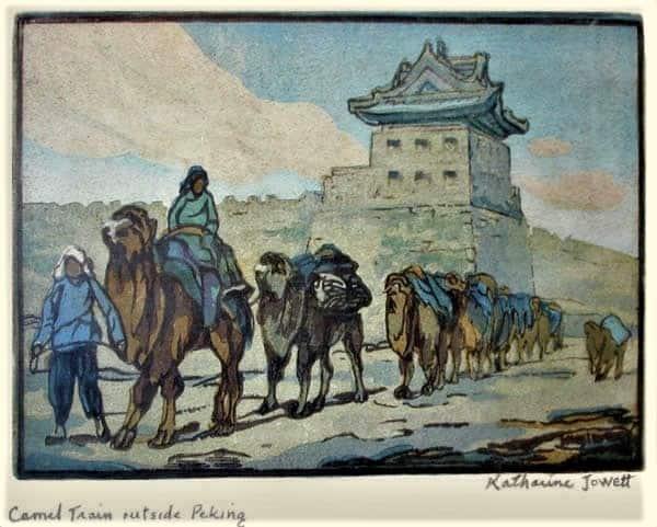 LExtreme-Orient-vu-de-lOccident-Jowett-Katharine-Camel-train-outside-Peking-1931
